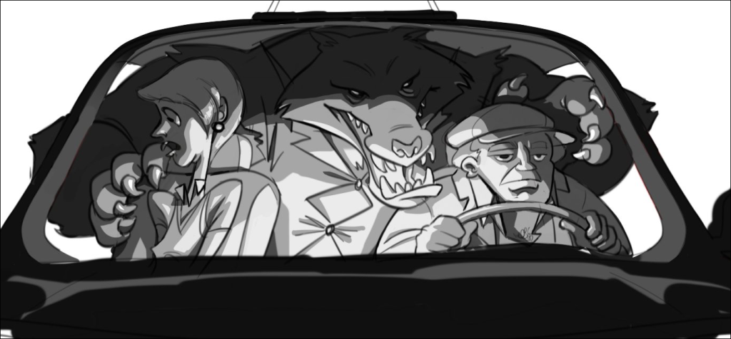 Werewolf in a Taxi